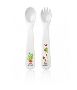 Philips AVENT Toddler Fork & Spoon 12M+ (SCF712/00)
