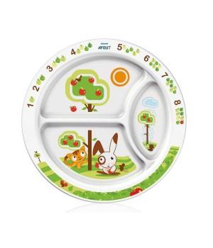 Philips AVENT Toddler Divider Plate 12M+Natural (SCF702/00)