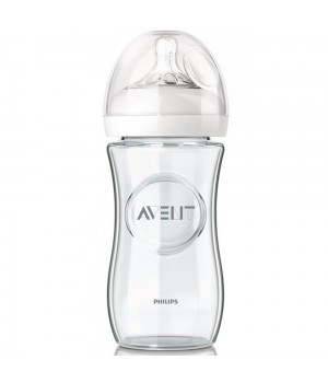 Philips AVENT Glass Feeding Bottle 240 ML PK1 (Natural Range) (SCF673/13)