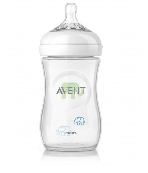 Philips AVENT Natural Deco Bottle 260 ML PK1 (Green) – (SCF627/17)