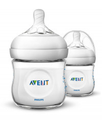 Philips AVENT Natural II PP 125ml Feeding Bottle PK2 (SCF690/23)