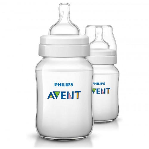 Philips AVENT 260ml Feeding Bottle PK2 (Classic Plus Range) (SCF563/27)