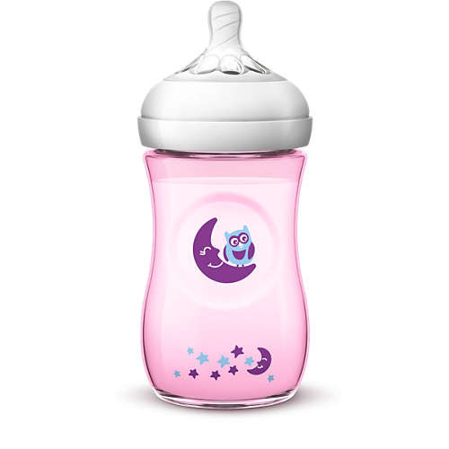 Philips AVENT Natural II 260ml Color & Deco PK1 (Girl) - SCF020/13