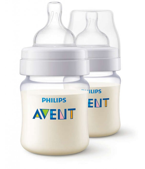 Philips AVENT classic plus feeding bottle 125ML pk2 (SCF452/27)
