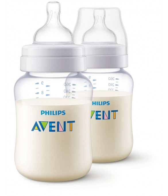 Philips AVENT classic plus feeding bottle 260ML pk2 (SCF454/27)