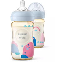 Natural PPSU 260ml Baby Bottle SCF582/20 PK2