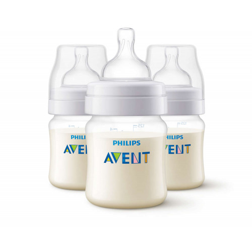 Anti-Colic Bottle PP 125ml Pk3 - SCF810/37