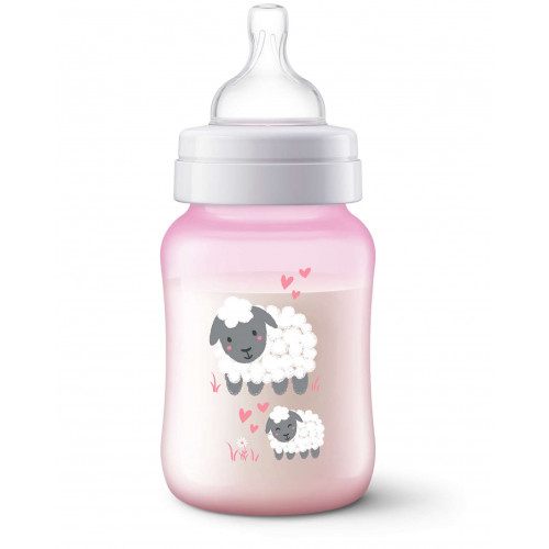 Philips AVENT Anti-colic deco bottle 260ml PK1 Sheep (SCF821/14)
