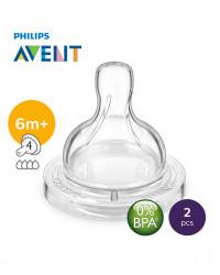Philips AVENT Teat 6m+ /4h Fast Flow PK2 (SCF634/27)