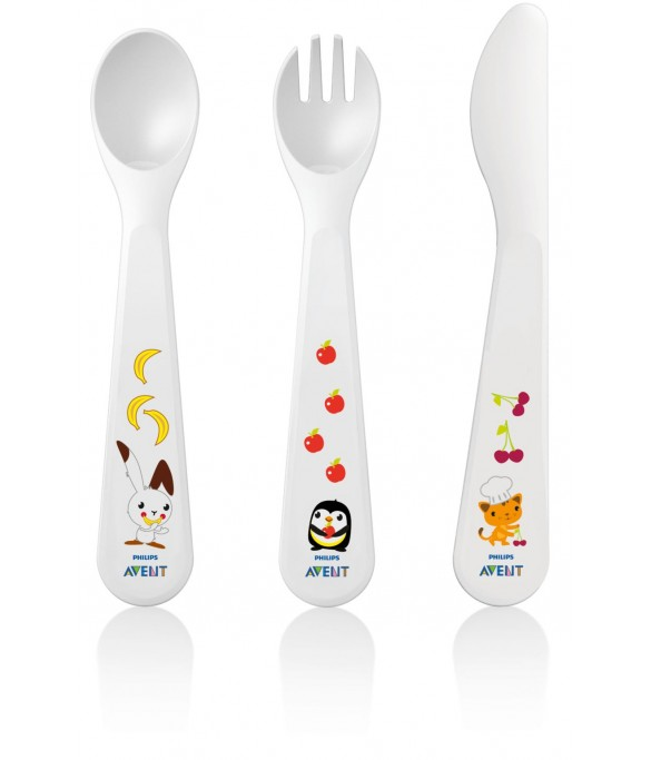 Philips AVENT Fork,Spoon & Knife Set 18M+ (SCF714/00)