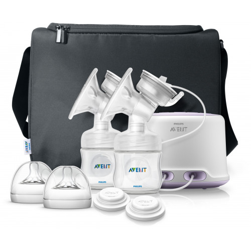 Philips AVENT Natural Double Elec. Breast Pump Ultra Comfort - SCF334/31