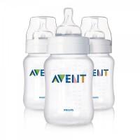 Philips AVENT 260ml Feeding Bottle pk3 (Classic Range) (SCF683/37)