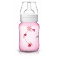 Classic+ PP Deco  Bottle 260ml PK1 Pink - SCF573/11