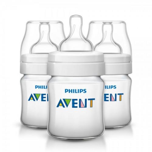 Philips AVENT Classic Plus PP Bottle 125ml PK3 (SCF560/37)