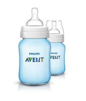 Philips AVENT Classic Plus PP Bottle 260ml PK2 (BLUE) – (SCF565/27)