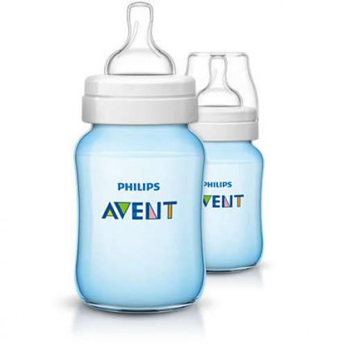 Philips AVENT Classic Plus PP Bottle 260ml PK2 (BLUE) – (SCF565/27)