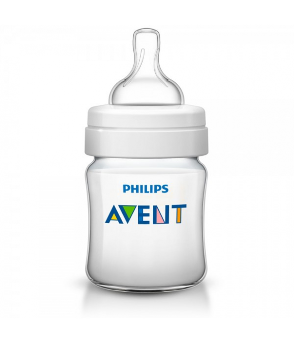Philips AVENT 125ml Feeding Bottle PK1 (Classic Plus Range) (SCF560/17)