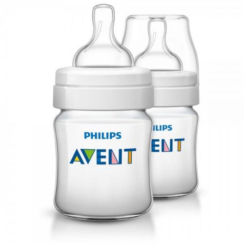 Philips AVENT 125ml Feeding Bottle PK2 (Classic Plus Range) (SCF560/27)