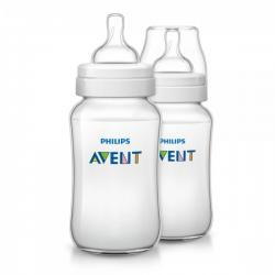 Philips AVENT 330ml Feeding Bottle PK2 (Classic Plus Range) (SCF566/27)