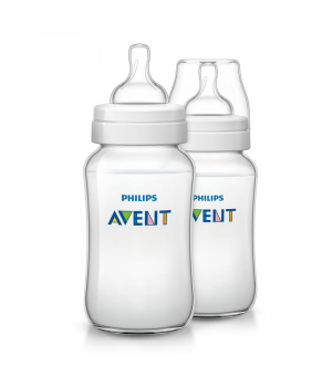 Philips AVENT 330ml Feeding Bottle PK2 (Classic Plus Range) (SCF566/27)