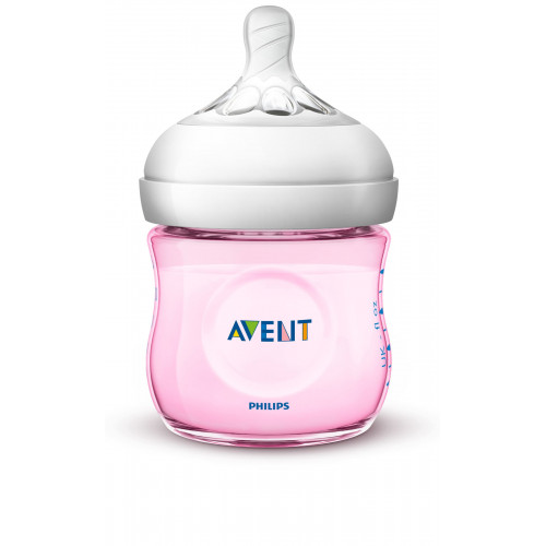Philips AVENT Natural II PP 125ml Bottle PK1 (Pink) (SCF691/13)