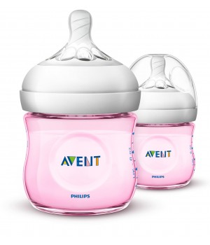 Philips AVENT Natural II PP 125ml Bottle PK2 (Pink) - (SCF691/23)