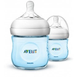 Philips AVENT Natural II PP 125ml Bottle PK2 (Blue) - (SCF692/23)
