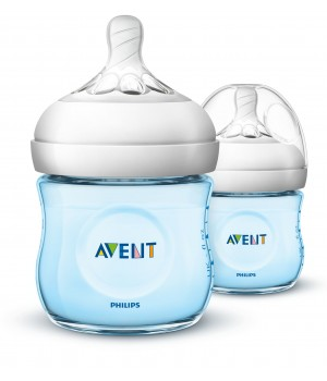 Philips AVENT Natural II PP 125ml Bottle PK2 (Blue) - (SCF692/23)