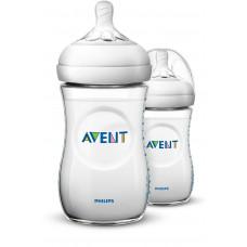 Philips AVENT Natural II PP 260ml Feeding Bottle PK2 - (SCF693/23)
