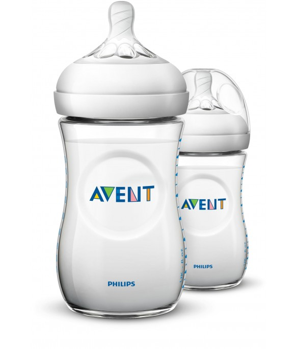 Philips AVENT Natural II PP 260ml Feeding Bottle PK2 - (SCF693/23)