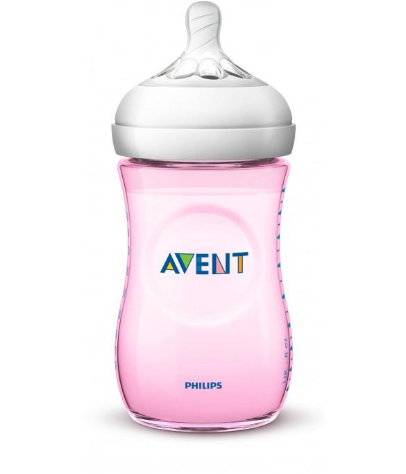 Philips AVENT Natural II PP 260ml Bottle PK1 (Pink) - (SCF694/13)