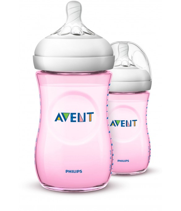 Philips AVENT Natural II PP 260ml Bottle PK2 (Pink) - (SCF694/23)