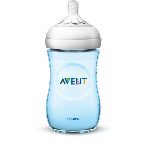 Philips AVENT Natural II PP 260ml Bottle PK1 (Blue) - (SCF695/13)