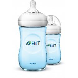 Philips AVENT Natural II PP 260ml Bottle PK2 (Blue) - (SCF695/23)