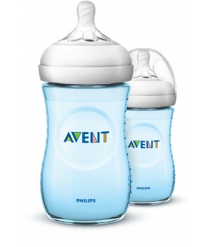 Philips AVENT Natural II PP 260ml Bottle PK2 (Blue) - (SCF695/23)