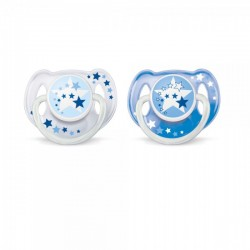 Philips AVENT Pacifiers 6-18m Night Time Bear 2pk (SCF176/22)