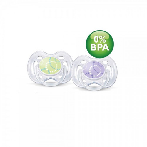 Philips AVENT Pacifiers 0-6 Contemp Free Flow PK2 (SCF180/23)