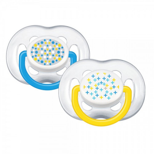 Philips AVENT Pacifiers 6-18 Contemp Free Flow PK2 (SCF180/24)
