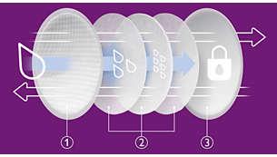 Breast Pads: Honeycomb top sheet